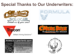Special Thanks to Our Underwriters